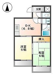 ウイング285[1階]の間取り