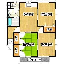 桂コーポ観音台[2階]の間取り