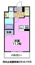 (仮称)宿郷1丁目マンション 3階1Kの間取り