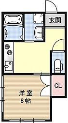 ハイツイソガワ[201号室号室]の間取り
