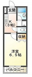 JR姫新線 余部駅 徒歩32分の賃貸アパート 2階1Kの間取り