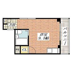 エステートハイノ[3階]の間取り