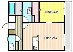 兵庫県姫路市東延末4丁目の賃貸アパートの間取り