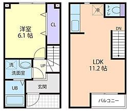 サイドパインIIB棟[2階]の間取り