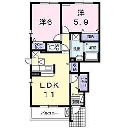 New Atagosita C[1階]の間取り