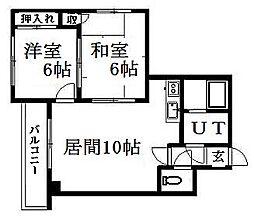 北海道札幌市豊平区西岡三条4丁目の賃貸マンションの間取り