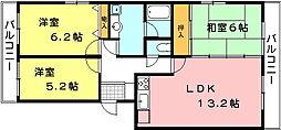 リバーハイツ間宮[2階]の間取り