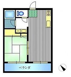 神奈川県横浜市戸塚区原宿2の賃貸マンションの間取り
