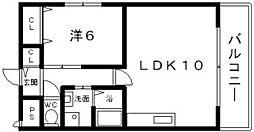 メゾンケーエス・ヒロ[1階]の間取り