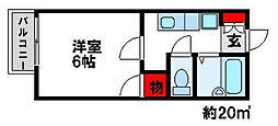 View二日市[1階]の間取り
