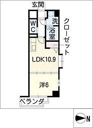 H・F名駅北レジデンスEAST[9階]の間取り