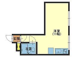大宝森ノ宮ロイヤルハイツ[5階]の間取り