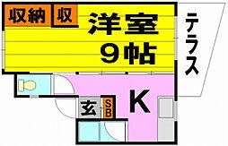矢野文化[1階]の間取り