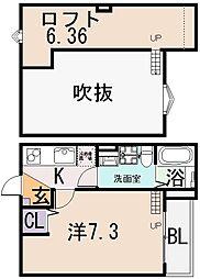 cachette noire(カシェットノアール)[2階]の間取り
