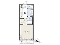 東急田園都市線 駒沢大学駅 徒歩5分の賃貸アパート 1階1Kの間取り