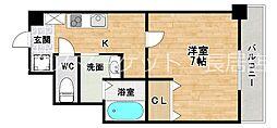 ラフォンテ中野[4階]の間取り