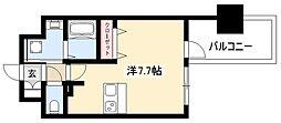 ADVANCE NAGOYA MOXIE 12階ワンルームの間取り