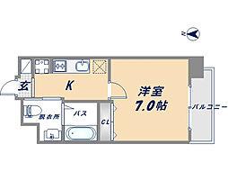 Osaka Metro千日前線 北巽駅 徒歩5分の賃貸マンション 4階1Kの間取り