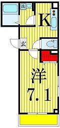 エスワン・アパートメント[3階]の間取り