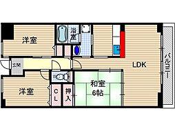 Lui Chance 2[5階]の間取り