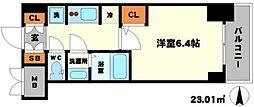 S-RESIDENCE江坂[12階]の間取り