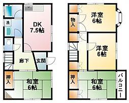 [一戸建] 千葉県山武市森 の賃貸【/】の間取り