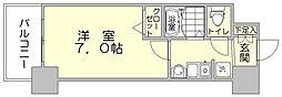 エステムコート博多駅前2セグティス[9階]の間取り