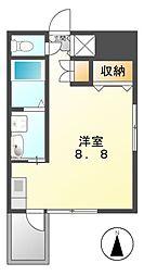 プレミアムコート名古屋金山インテルノ[13階]の間取り