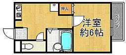 兵庫県宝塚市大成町の賃貸アパートの間取り