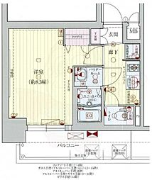 Osaka Metro谷町線 天満橋駅 徒歩5分の賃貸マンション 7階1Kの間取り