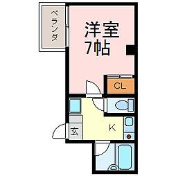 シャトー村瀬千代田[5A号室]の間取り