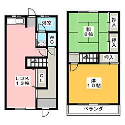 [テラスハウス] 愛知県春日井市八田町1丁目 の賃貸【/】の間取り