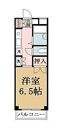 埼玉県草加市花栗1丁目の賃貸マンションの間取り