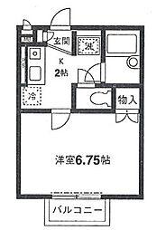 神奈川県横浜市磯子区杉田4の賃貸アパートの間取り