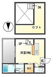 エスポワールTOBESHITA(エスポワールトベシタ)[2階]の間取り