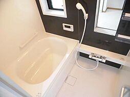 リフォーム済み。浴室です。ハウステック製の0.75坪のユニットバスに新品交換しました。毎日使う水廻りは新品がいいですね。