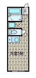 アンジェ相模原[2階]の間取り