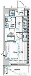 ブライズ品川大井TRE(ブライズシナガワオオイトレ) 1階1Kの間取り