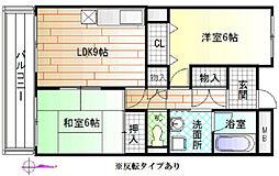 大阪府八尾市渋川町6の賃貸マンションの間取り