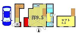 栄町5丁目アパート 2階ワンルームの間取り