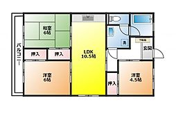 大宮植竹住宅[401号室]の間取り