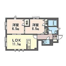 (仮)平塚市北金目3丁目シャーメゾンA[1階]の間取り