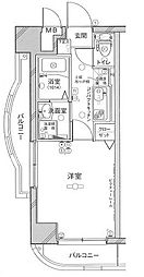 グリフィン横浜・メディオ[4階]の間取り
