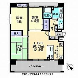 ボヌール新倉敷[7階]の間取り