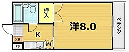 クレアトール23[3階]の間取り