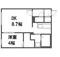 北海道札幌市厚別区厚別中央二条6丁目の賃貸マンションの間取り