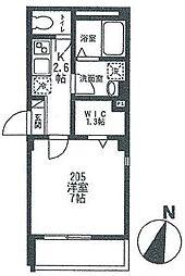 ドミール平和島 bt[205kk号室]の間取り