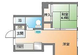 ビスタ四天王寺[5階]の間取り