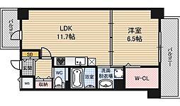 レジデンス西梅田[7階]の間取り