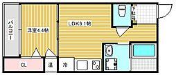 F maison COASTII[102号室]の間取り